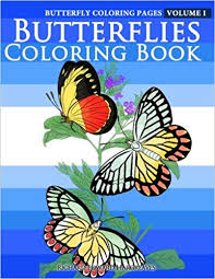 Amazoncom Butterfly Coloring Pages Butterflies Coloring Book