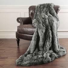 gray faux fur throw. Plain Throw Aurora Home Faux Fur Throw Blankets By Wild Mannered Intended Gray E