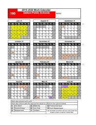 Printable Attendance Calendar 2020 Employee Work Calendar Dalton Public Schools