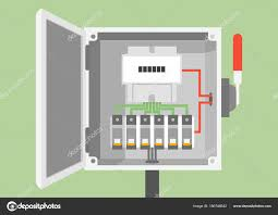 breakers switch vector flat fuse vector electric box circuit electric box fuse fallout breakers switch vector flat fuse vector electric box circuit breakers stock vector