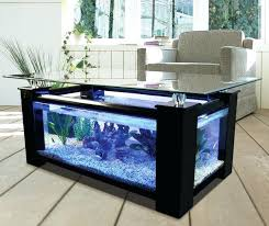 fish tank coffee table diy table blended with fish tank kitchen cabinets for