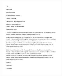 9 Sample Claims Letters Pdf Word