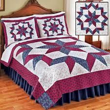 181 best Bedroom Decorating images on Pinterest | Comforter, Duvet ... & Reversible Patchwork Star Floral Quilt Adamdwight.com