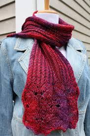 Free Scarf Knitting Patterns Unique All Knitted Lace Free Pattern Wine Flower Scarf