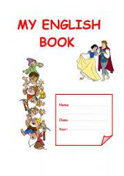 english worksheet cover for an english book portfolio