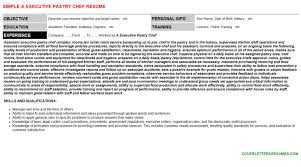 internship pastry chef resumes and cover letters   a executive pastry chef
