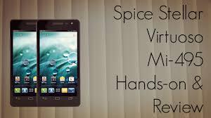 Spice Stellar Virtuoso Mi-495 Android ...