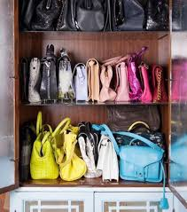 purse organization organize purses in a cabinet closet organization accessories via nicolette