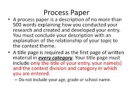 nhd help tips words hi jonathan the word rule process paper a process paper is a description of no more than 500 words explaining how