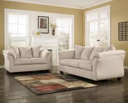 ashley sofa and loveseat. Signature Design By Ashley Darcy - Stone Contemporary Sectional Sofa With Sweeping Pillow Arms   Wayside Furniture Sofas And Loveseat