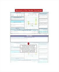 Supplier Scorecard Example Vendor Management Scorecard Template Vendor Scorecard