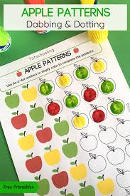 Luckily, we have many zentangle patterns already drawn for you to color! Apple Patterns Do A Dot Activity Totschooling Toddler Preschool Kindergarten Educational Printables