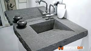 making concrete countertops you concrete bathroom in concrete sink part 1 of 2 remodel building concrete