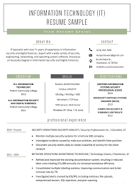 example of a perfect resumes information technology it resume sample resume genius