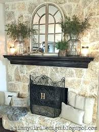 wall decor over fireplace above mantel decorating decoration decorate using mirror ideas with tv ma