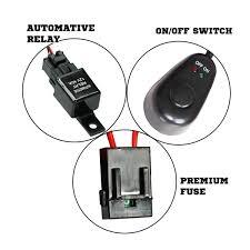 remote spotlight wiring diagram remote trailer wiring diagram led hid fog spot work driving light wiring loom