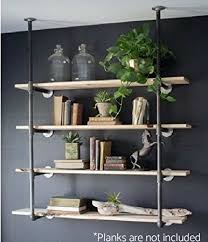 iron pipe furniture. Industrial Retro Wall Mount Iron Pipe Shelf Hung Bracket Diy Storage Shelving Bookshelf (2 Pcs Furniture