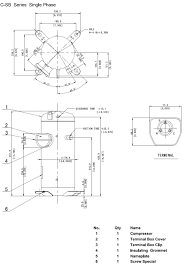 danfoss compressor wiring danfoss image wiring diagram compressor hermetic scroll panasonic c sbs200h15a area cooling on danfoss compressor wiring