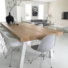 Natural Wood Dining Tables Gris Y Madera Natural La Combinacin Perfecta Dinner Room