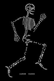 skeleton typogram by aaron kuehn an anatomical diagram of the skeletal system in a running