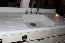 installing antique iron kitchen sink with drainboard home design