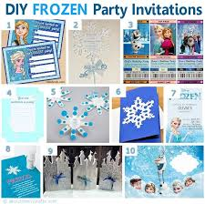 diy frozen inspired party invitations