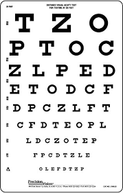 Free Online Eye Test Chart Snellen Translucent Distance Vision Eye Test Chart Buy