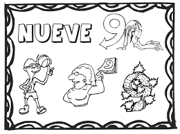 Numbers2color3 free numbers to 12 coloring pages printable spanish on color by number spanish coloring page