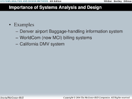 What Is Information Systems Analysis And Design The Context Of Systems Analysis And Design Methods Ppt