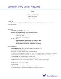 Resume Examples Entry Level Stunning Resume Sample For Entry Level Customer Service Best Entry Level