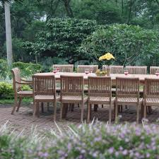 13 piece grade a teak wood dining set