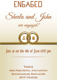 Engagement Invite Templates Free Ring Themed Engagement Invitation Card With Wordings Check It 24