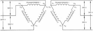 single phase transformers connected in delta Delta Transformers Diagrams 3 elementary diagram of delta delta transformer connections delta transformer diagram