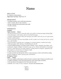 Good Resume For Flight Attendant Resume For Your Job Application