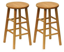 Amazon.com: Winsome Wood Wood 24-Inch Counter Stools, Set of 2, Natural  Finish: Kitchen & Dining