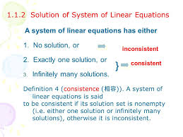 1 1 2 solution of system of linear equations