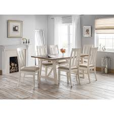 Pembroke White Bedroom Furniture Julian Bowen Pembroke Dining Set With 6 Dining Chairs