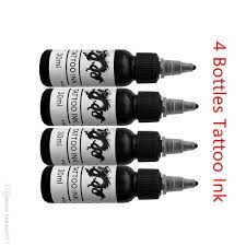 красота здоровье 4 бутылки 1oz черные чернила татуировки набор татуировки боди арт