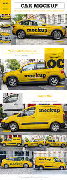 Free square photo frame on wall mockup. Car Mockup Set By Country4k Graphicriver