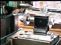 drill press metal lathe. the gear blank set up on (atlas 7\ drill press metal lathe