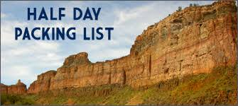 Packing Lists Packing Lists - Salt River Pre-Trip Info | Arizona RaftingSalt River ...