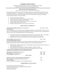 Entry Level Banking Resumes Resume Examples For Bank Teller Entry Level Banking Resume Sample