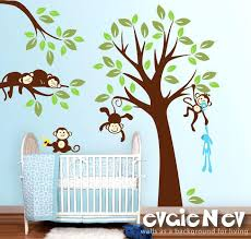 monkey wall decals best nursery decoration images on baby
