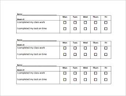 behavior chart sample example format teachers behaviour chart example pdf