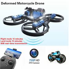 2 In 1 <b>2.4G Deformation Motorcycle</b> Folding <b>Drone</b> DIY Remote ...
