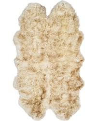 C Safavieh Sheepskin Shag Shs121d Off White  Coco Brown 3u0027 X 5u0027 Area Rug