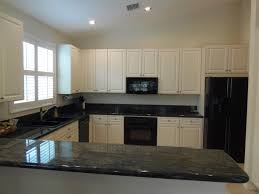 Small Picture Modren Kitchen Design White Cabinets Black Appliances Ideas And