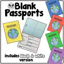 Free Passport Template For Kids Custom Blank Passport Template By Blue Bees Workshop Teachers Pay Teachers