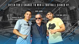 Oscar Valdez, Teofimo Lopez & Bob Arum ...