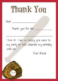 Kids Thank You Cards Kids Fill In Thank You Cards Sports Themed